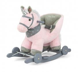 Koń na biegunach Milly Mally Polly miętowy interaktywny konik bujany