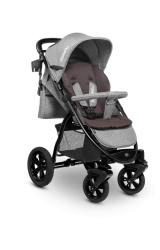 Wózek spacerowy LIONELO ANNET TOUR jasno-szary duże gumowe koła + moskitiera + ocieplacz na nóżki + torba + materacyk