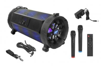 Podświetlany głośnik kolumna Bluetooth LTC Power Audio ACTIV ROCK PA300 SD USB FM REC MIC + pilot + 2 mikrofony bezprzewodowe