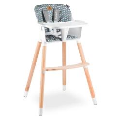 Drewniane krzesło i krzesełko do karmienia 2 w 1 Lionelo Koen