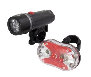 Zestaw lampka rowerowa LED na przód i tył Esperanza ALPHECCA