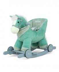 Koń na biegunach Milly Mally Polly beżowy interaktywny konik bujany