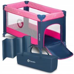 Kojec łóżeczko turystyczne Lionelo Stefi + torba - różowe
