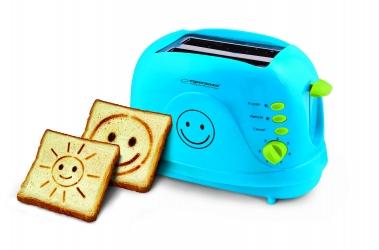 Toster na 2 kromki Esperanza SMILEY 750W - niebieski