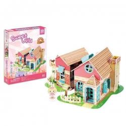 PUZZLE 3D Domek dla lalek Sweet Villa zestaw 84 elementy