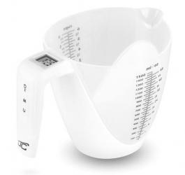 Elektroniczna waga kuchenna dzbanek LTC do 5kg 1,5l biała