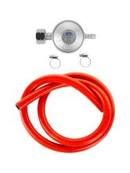 Reduktor gazowy do grilla - zestaw reduktor + wąż + opaski