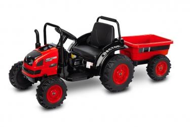 Traktor na akumulator z przyczepką Caretero Toyz Hector akumulatorowiec + pilot - czerwony