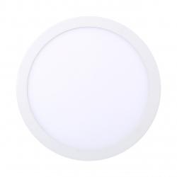 Panel LED okrągły 300mm 25W podtynkowy sufitowy 3000K-WW - biały