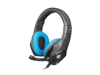 Słuchawki nauszne dla gracza z mikrofonem FURY PHANTOM podświetlenie