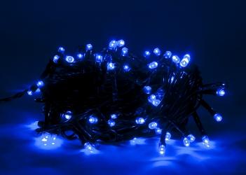 Lampki ozdobne choinkowe hermetyczne niebieskie Led 100szt z efektem błysku