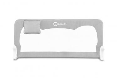 Wysoka barierka ochronna do łóżka Lionelo Hanna 66 cm wysokości - szara