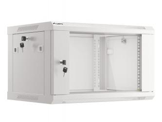 Szafa instalacyjna RACK V2 wisząca 19'' 6U 600x450 drzwi szklane Lanberg  - szara