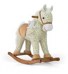 Koń na biegunach Milly Mally Pony fioletowy interaktywny konik + miś