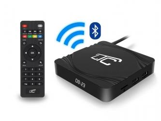 Smart TV BOX LTC Android 4K UltraHD WiFi Bluetooth - wbudowany zegarek