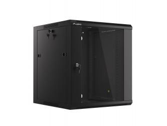 Szafa instalacyjna RACK wisząca 19'' 12U 570x600 drzwi szklane Lanberg  - czarna