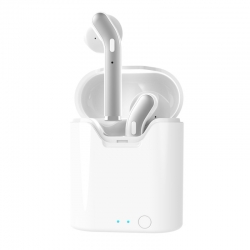 Bezprzewodowe słuchawki douszne TWS ART z mikrofonem białe/srebrne