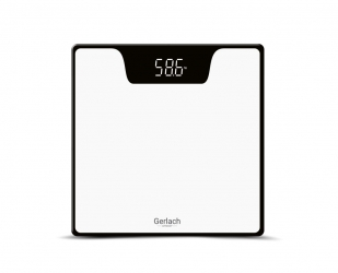 Elektroniczna waga  łazienkowa LED Gerlach GL 8167w do 180 kg biała