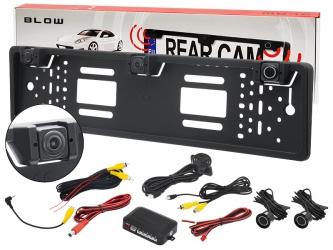 Przewodowa kamera cofania w ramce BLOW BVS-548 wodoodporna + czujniki cofania
