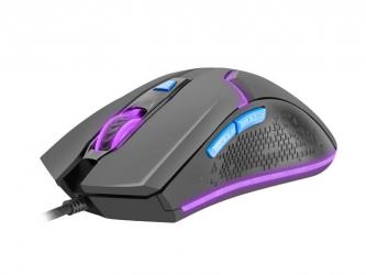 Mysz gamingowa podświetlana FURY HUNTER 2.0 6400DPI RGB dla graczy + soft