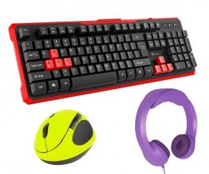 Klawiatura Genesis RHOD 110 gamingowa dla graczy ULTRA WYTRZYMAŁA + 8 klawiszy + mata na biurko + mysz + słuchawki NEMEZIS
