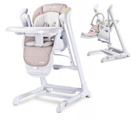 Krzesełko do karmienia huśtawka 2w1 Caretero INDIGO - beżowe