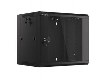 Szafa instalacyjna RACK wisząca 19'' 9U 570x450 drzwi szklane Lanberg  - czarna