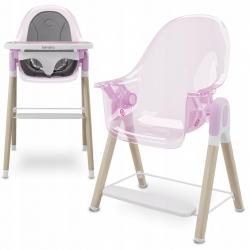 Krzesełko do karmienia 2 w 1 Lionelo Maya - różowe
