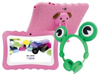 Tablet edukacyjny dla dzieci BLOW KIDSTAB 7 ver. 2020 +gry +słuchawki - różowy