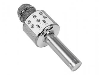 Bezprzewodowy mikrofon Bluetooth PRM402 BLOW srebrny karaoke