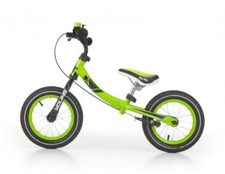 Rowerek biegowy z dzwonkiem i obracaną ramą Milly Mally Young zielony