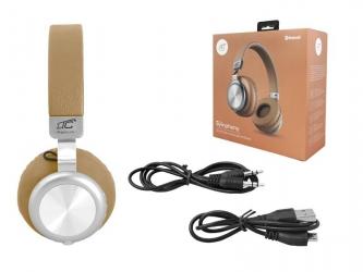 Słuchawki bezprzewodowe bluetooth LTC SYMPHONY mikrofon FM SD AUX - złote