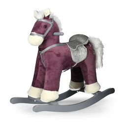 Koń na biegunach Milly Mally PePe beżowy interaktywny konik bujany