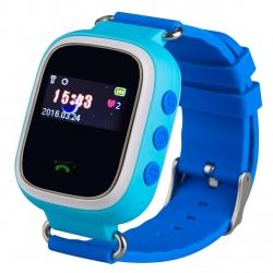Zegarek smartwatch dla dzieci LOKALIZATOR GPS SIM SOS - niebieski
