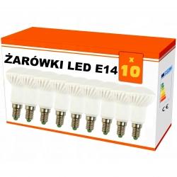 """Zestaw 10x  żarówek """"R50"""" LED ceramiczna E14 6W AC230V, 470 lm!,WW,blist"""