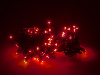 Lampki ozdobne choinkowe czerwone Led 100szt 7,5m
