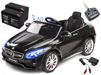 Samochód auto na akumulator Caretero Toyz Mercedes-Benz S63 AMG akumulatorowiec + pilot zdalnego sterowania - czarny