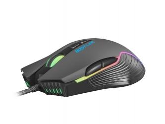 Mysz dla graczy FURY Hustler 6400DPI RGB podświetlana gamingowa oprogramowanie