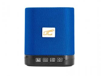 Głośnik Bluetooth LTC KOSTKA  z radiem FM AUX microSD - niebieski