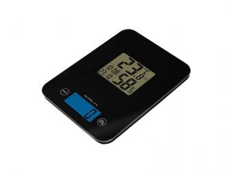 Elektroniczna waga kuchenna LTC szklana z termohigrometrem - czarna