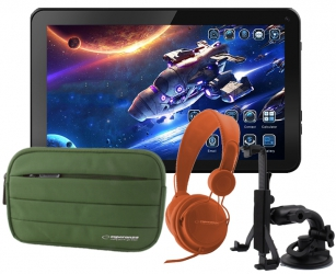 Tablet edukacyjny dla dzieci KIDS + gry + etui + słuchawki + uchwyt na zagłówek