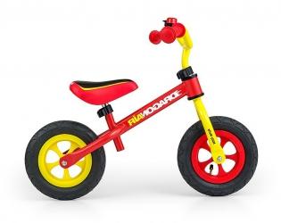 Rowerek biegowy z dzwonkiem Milly Mally Dragon Air żółto-czerwony