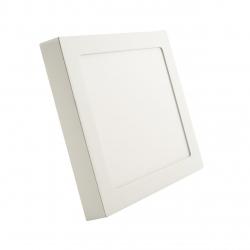 Panel LED kwadrat 205x30mm 18W natynkowy sufitowy 4000K-W - biały