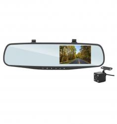 "Wideorejestrator rejestrator samochodowy DVR w lusterku LTC Full HD LCD 4.3"" + kamera cofania"