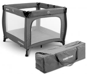 Kojec łóżeczko Caretero QUADRA + torba - grafitowy