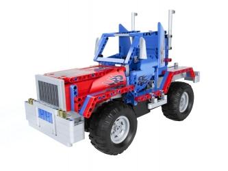 Samochód zdalnie sterowany ciężarówka 2w1 do złożenia z klocków QUER BLOCKS TRUCK