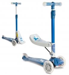 Hulajnoga trójkołowa 2w1 Caretero Toyz TIXI z siedziskiem - niebieska