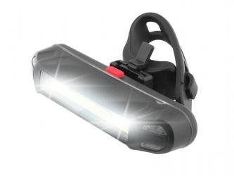 Akumulatorowa lampka rowerowa LTC LED COB biało/czerwony na przód lub tył
