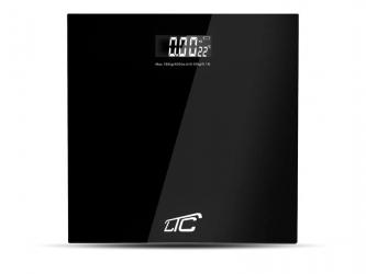 Elektroniczna waga  łazienkowa LTC z termometrem do 180 kg czarna