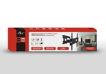 """Uchwyt naścienny uniwersalny wieszak do TV LCD/LED/PLAZMA 23-65"""" 50KG AR-75 ART regulacja w pionie i poziomie"""